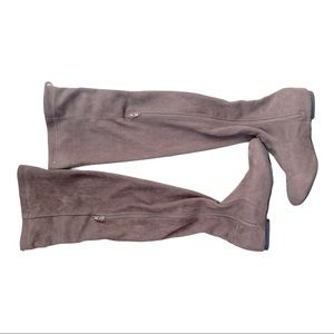 Faux suede stretchy  thigh high boots size 6